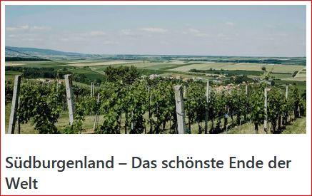 Südburgenland - Das schönste Ende der Welt