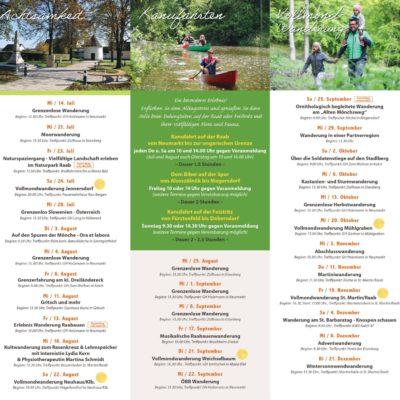 Veranstaltungskalender 2021 Seite 2