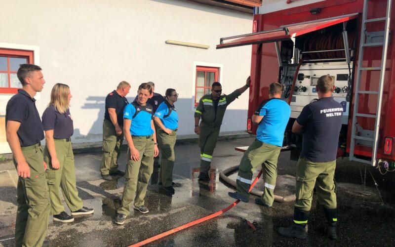 Interne Schulung im Feuerwehrhaus Welten